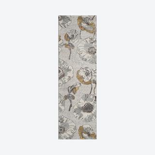 Luxe Runner Rug - Grey - Floral
