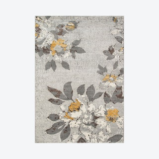 Luxe Area Rug - Grey / Yellow - Floral