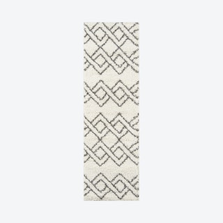 Maya Runner Rug - Ivory - Geometric