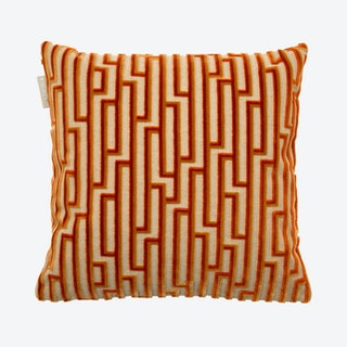 Gamma Square Pillow Cover - Paprika