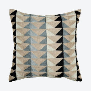 Graphic Square Pillow Cover - Linen / Grey