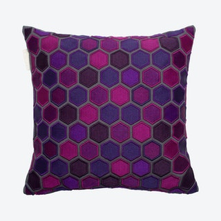 Honey Square Pillow Cover - Dark Purple
