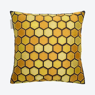 Honey Square Pillow Cover - Yellow / Green