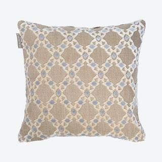 Izmir Square Pillow Cover - Linen / Grey