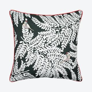 Laurel Square Pillow Cover - Dark Grey