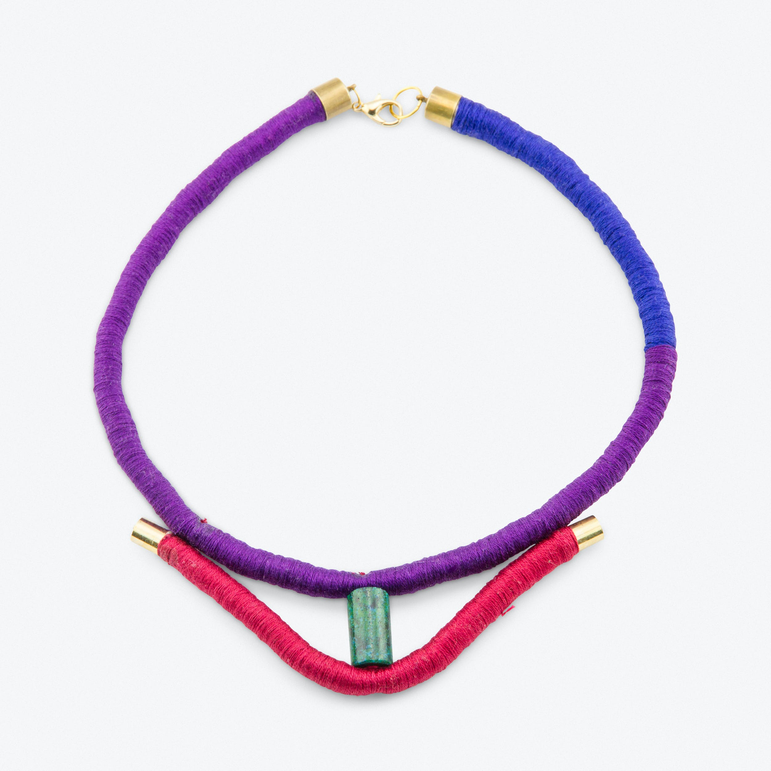 Colour Block Rope Choker