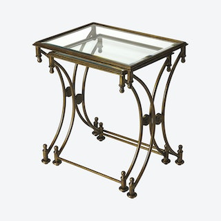 Beverly Antique Nesting Tables - Set of 2