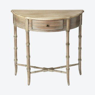 Skilling Demilune Console Table - Grey