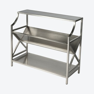 Keats Library Bookcase - Silver