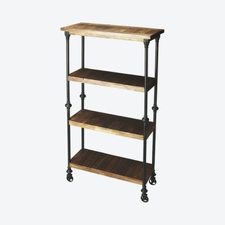 Fontainebleau Industrial Chic Bookcase