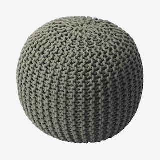 Pincushion Woven Pouffe - Grey