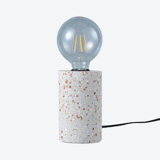 Terrazzo Column Lamp - Light Grey