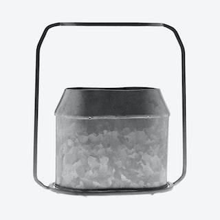 Napa Oval Vase - Zinc / Metal