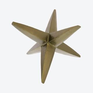 6-Point Star Sculpture - Brass