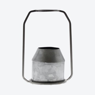 Napa Round Vase - Zinc / Metal