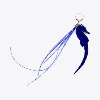 Seahorse & Thread Earring in Blue