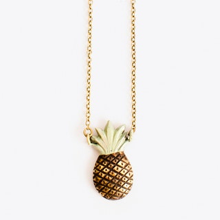 Pineapple Necklace in Mint