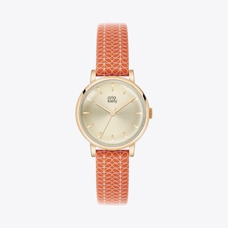 Patricia Watch in Gold & Tangerine