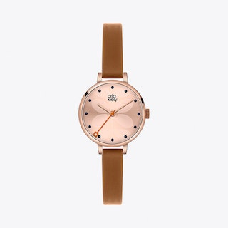 Ivy Watch in Rose Gold & Brown