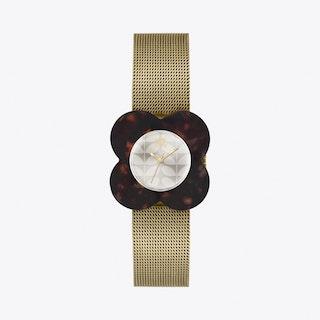 Poppy Watch in Tortoise & Gold II