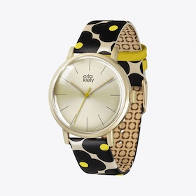 Patricia Watch in Gold & Floral