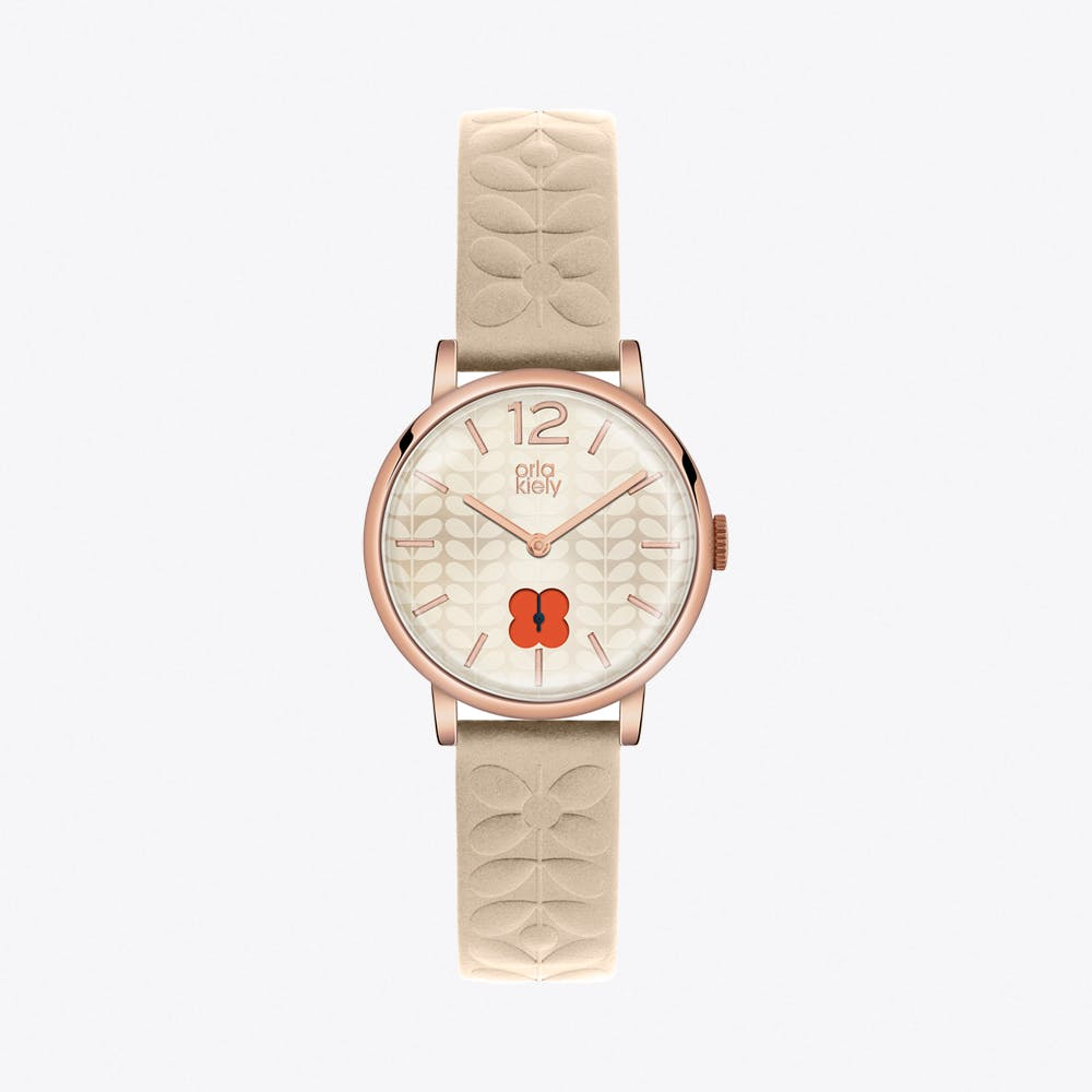 Frankie Watch in Rose Gold & Nude