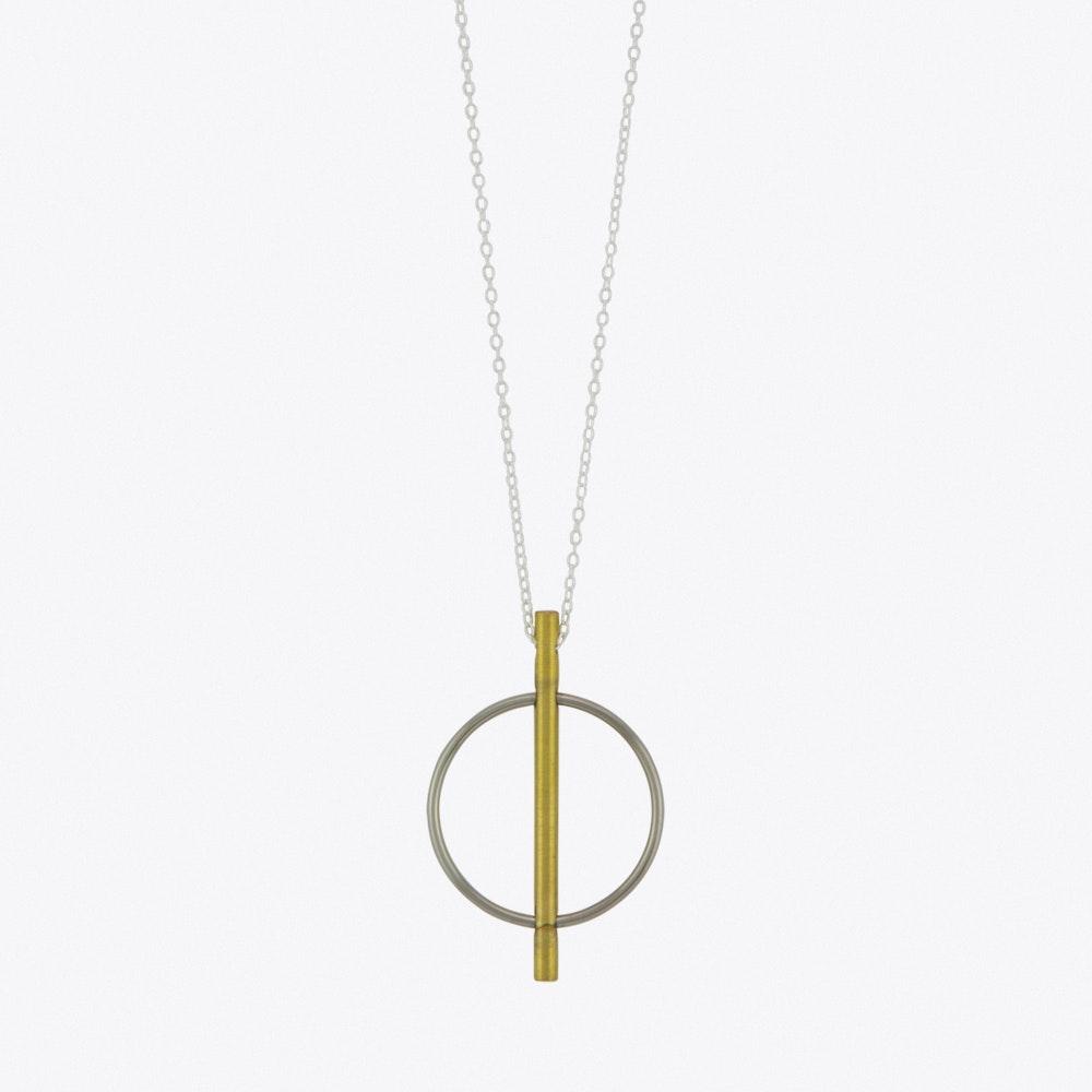 08c2735056b66 Circle & Line Pendant Necklace