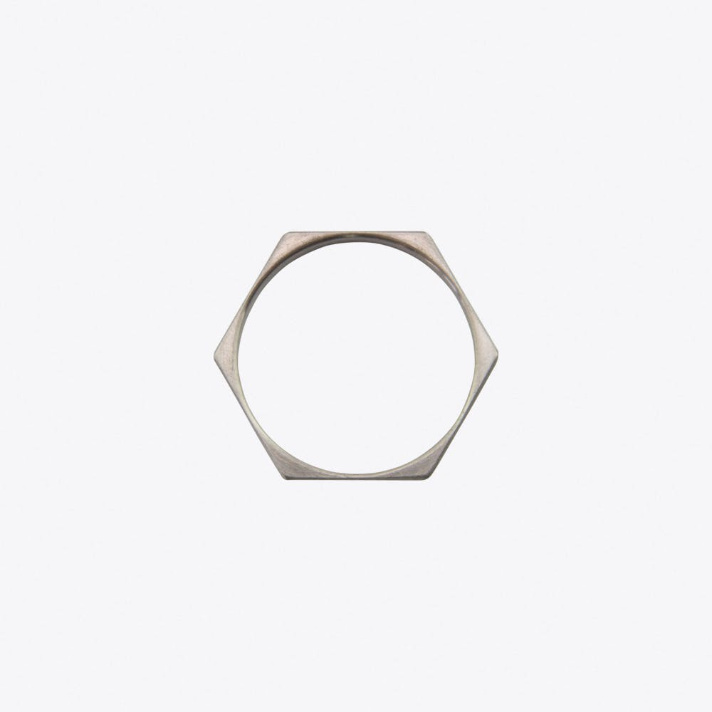 Hexagon Ring in Stainless Steel