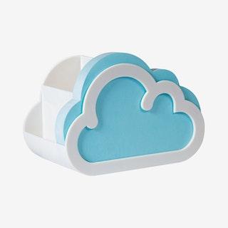 Notepad and Pen Pot - Cloud
