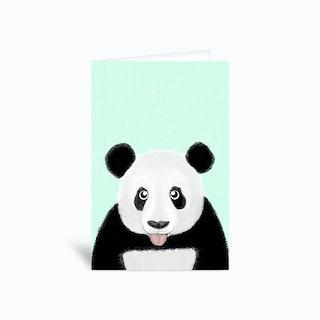Cute Panda Greetings Card
