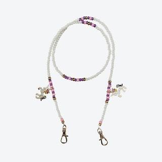 Unicorn Mask Chain - White