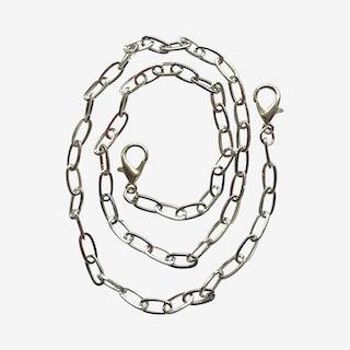 Paper Clip Mask Chain - Silver