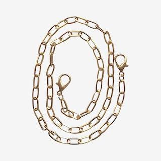 Paper Clip Mask Chain - Gold