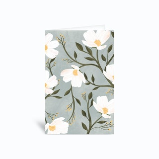 Flores Azules Greetings Card
