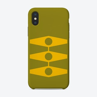 Minimal Eyes In Warm Yellow And Light Olive Phone Case