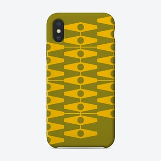 Abstract Eyes In Warm Yellow And Light Olive Phone Case