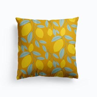Lemon Tree Canvas Cushion