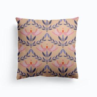 Kissing Birds Canvas Cushion