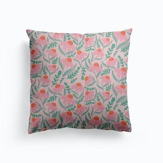 Pink Daisies Canvas Cushion