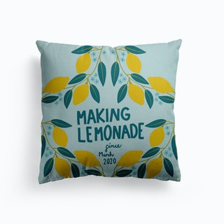 Making Lemonade Canvas Cushion