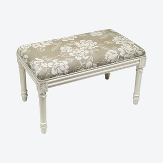 Louis XVI Bench - Taupe / White - Linen - Magnolia