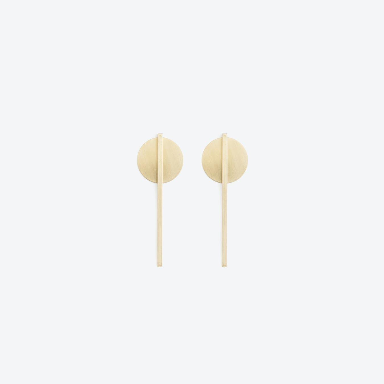 THEO Earrings N°1 / Brass