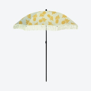 Caribbean Beach Umbrella - Yellow / White