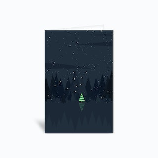 Christmastree 4x6 Greetings Card