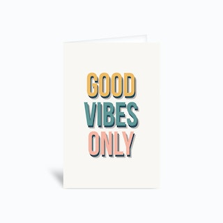 Goodvibesonly 4x6 Greetings Card