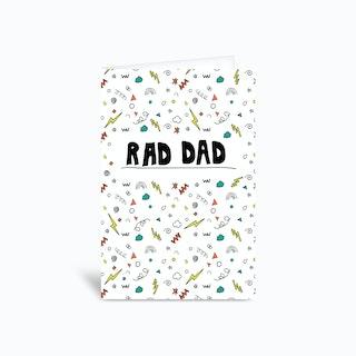 Raddad 4x6 Greetings Card