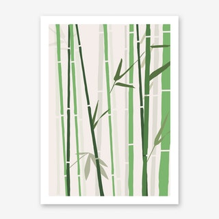 Bamboo Rainbow Green Art Print