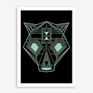 Geo Bear Art Print