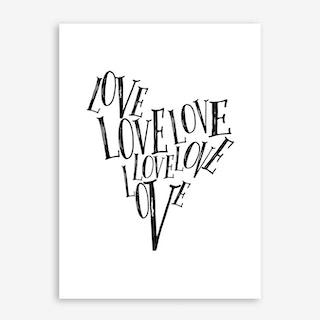 Love Heart Print