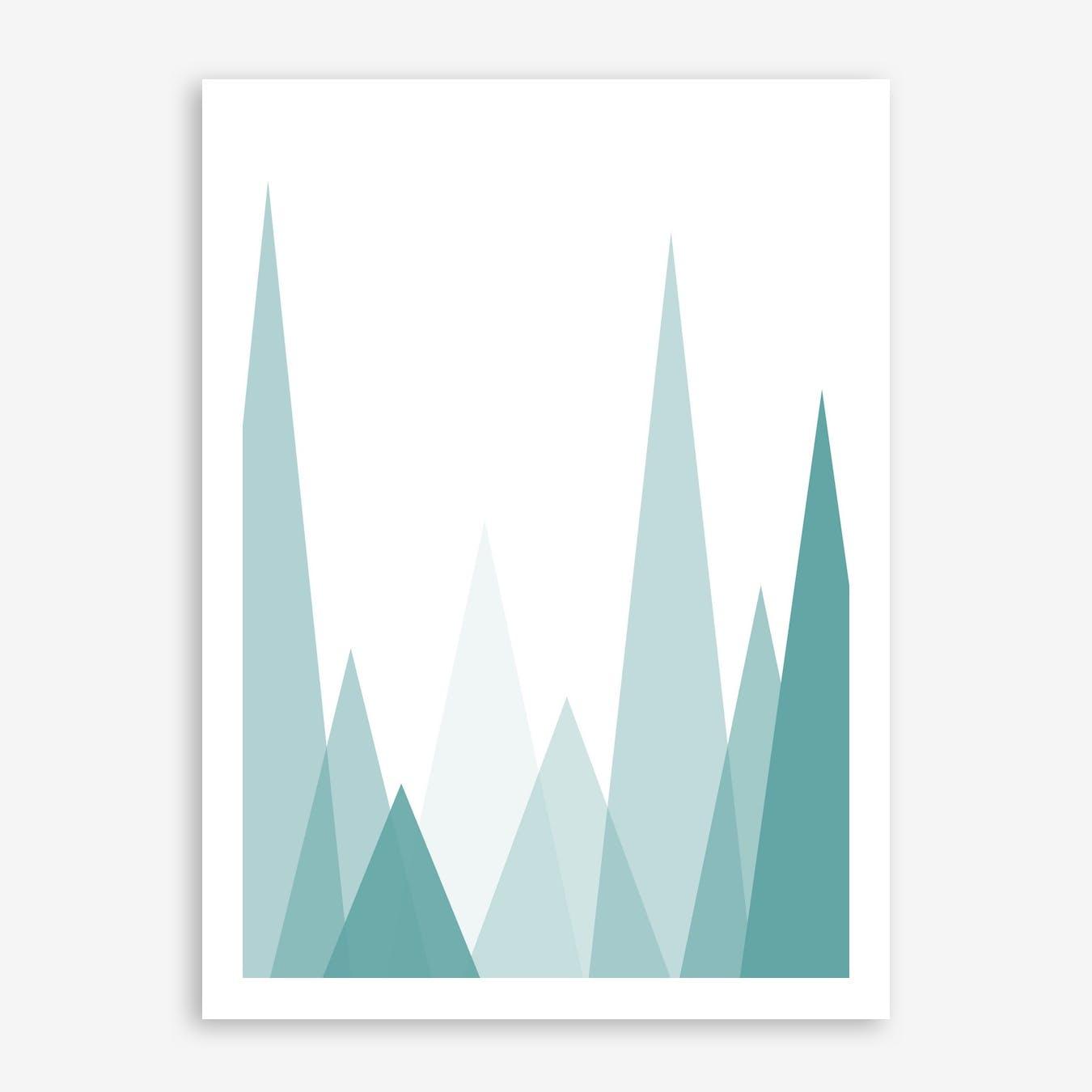 MountainsTurquoise Print
